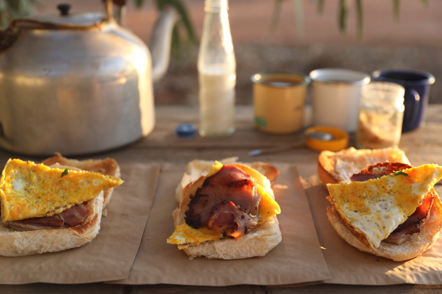 Bacon and egg rolls