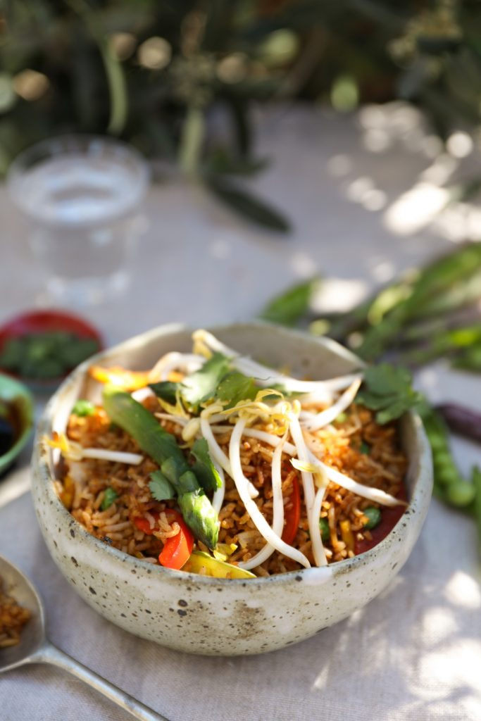 asparagus fried rice
